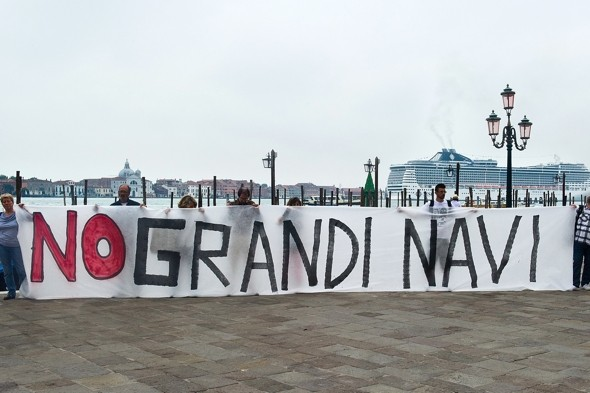Menace in Venice: Huge cruise ship sparks angry protests