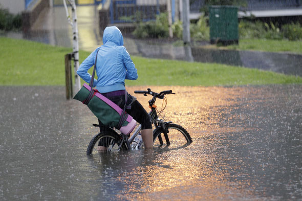 Washout summer: One month of rain to fall in one day
