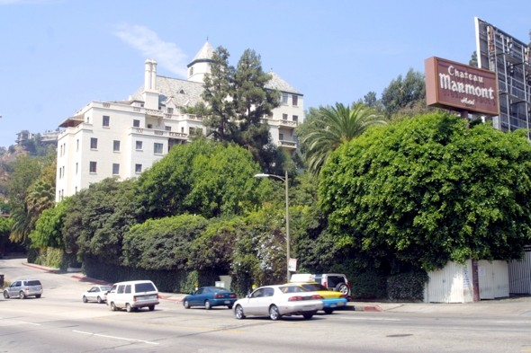 Which star has been banned from the luxury Chateau Marmont hotel?
