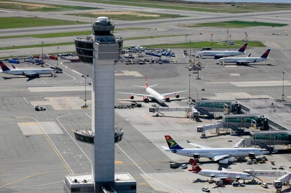 Jet skier climbs fence at JFK airport and crosses two runways