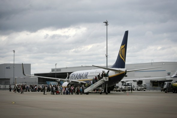 Ryanair flight delay as baggage truck crashes into plane