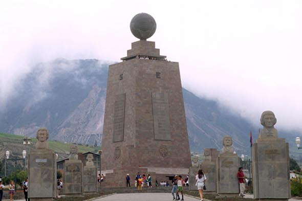 Equator monument isn't actually situated on the equator
