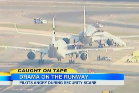 Watch video: Pilot loses patience during terror threat scare at New York JFK airport, American Airlines, flight delay, plane