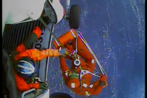 Video: Dramatic rescue of crew members from HMS Bounty, two missing