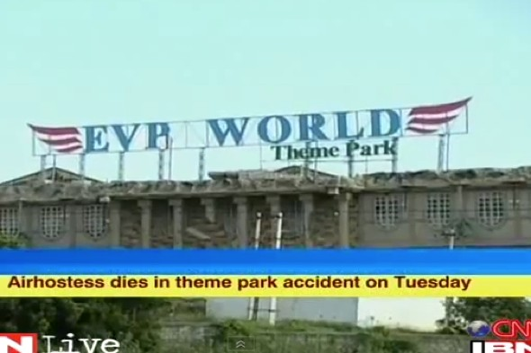 Air hostess dies after being thrown from theme park ride