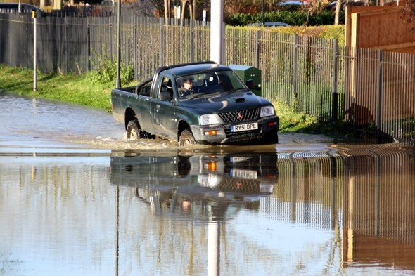 Drivers furious after getting parking tickets in flood-hit UK town