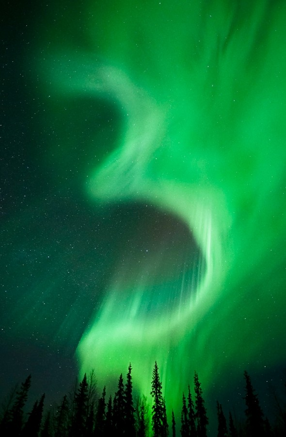 Is that a number 3 in Sweden's Northern Lights?