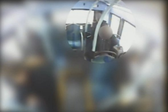 CCTV footage shows bus commuter strangled by scarf