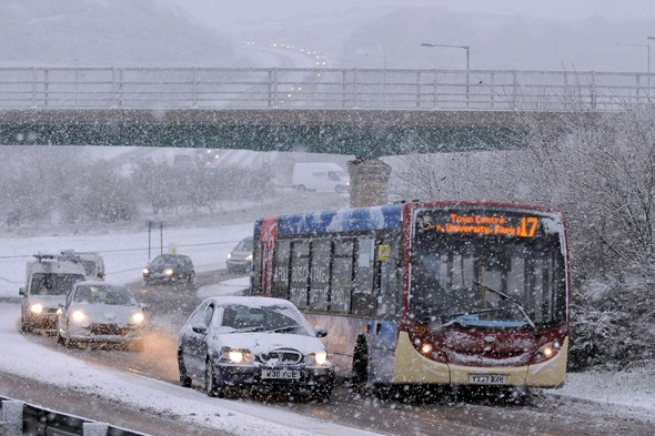 Britain warned next week could be too cold for grit to work on roads