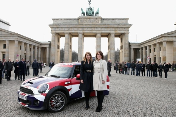 Princesses Beatrice and Eugenie fly the flag for Britain on trip to Germany