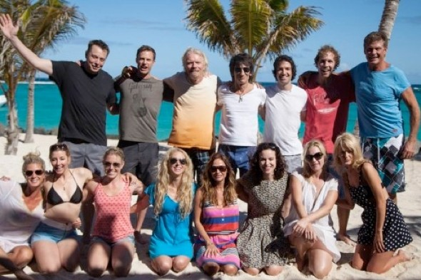Who can you spot? Richard Branson tweets pic of celebs on Necker Island