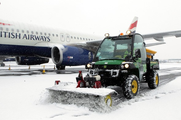 Roads gridlocked, airports closed and more snow forecast for next week