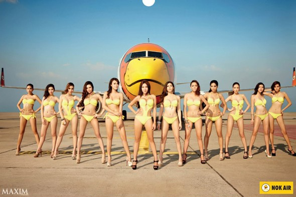 Taking a leaf out of Ryanair's book! Thai government criticises airline's racy calendar