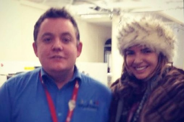Airport worker sacked after posting pic of himself and Girls Aloud star on Facebook