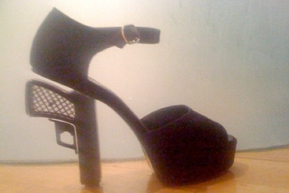 Tara Palmer-Tomkinson arrested at Switzerland airport over gun-shaped shoes