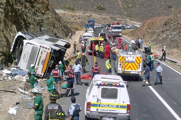 24 people killed in bus crash near Cape Town