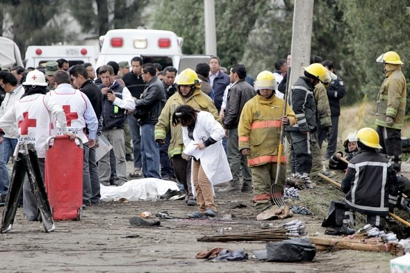 16 killed after truck loaded with fireworks at festival explodes in Mexico