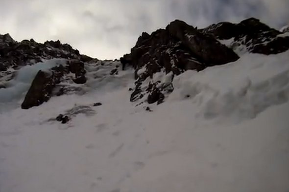 Climber captures his 100ft mountain fall on camera