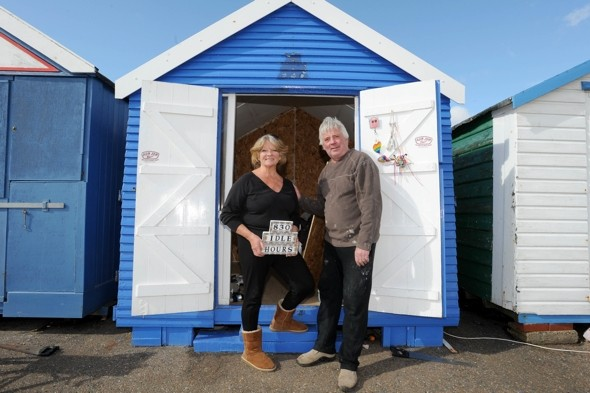 Couple chop off back of beach hut in protest at £100 rent rise