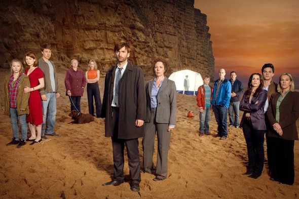 Tourists flock to Broadchurch location to lay flowers for fictional child's death