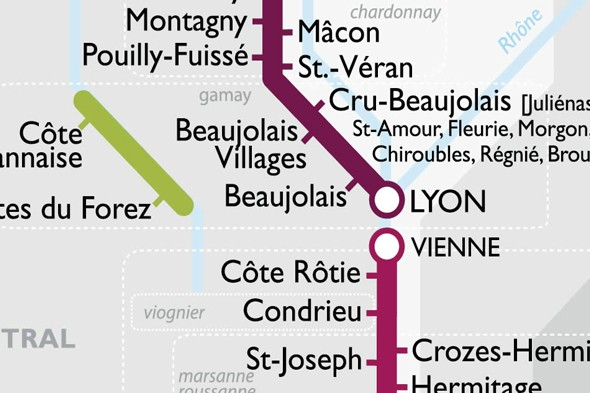 The best metro map ever! France's wine regions