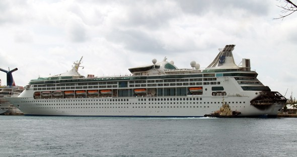 Video: Fire engulfs Royal Caribbean cruise ship