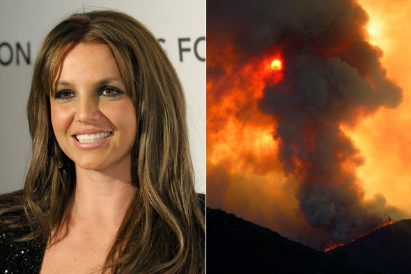 Britney Spears and her sons shelter from wildfire at Four Seasons Hotel