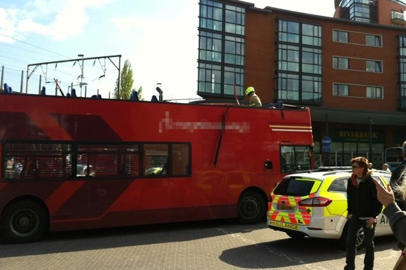 Double decker bus has roof ripped off by railway bridge in Chelmsford