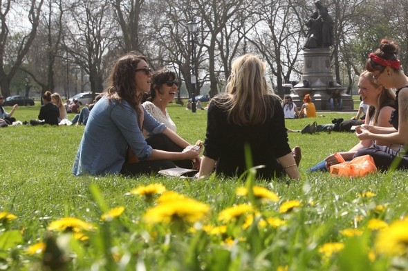 Here comes the sun! Temps to soar to 23C on Monday?
