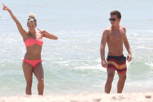 Tom Daley shows off killer abs at the beach in Florida