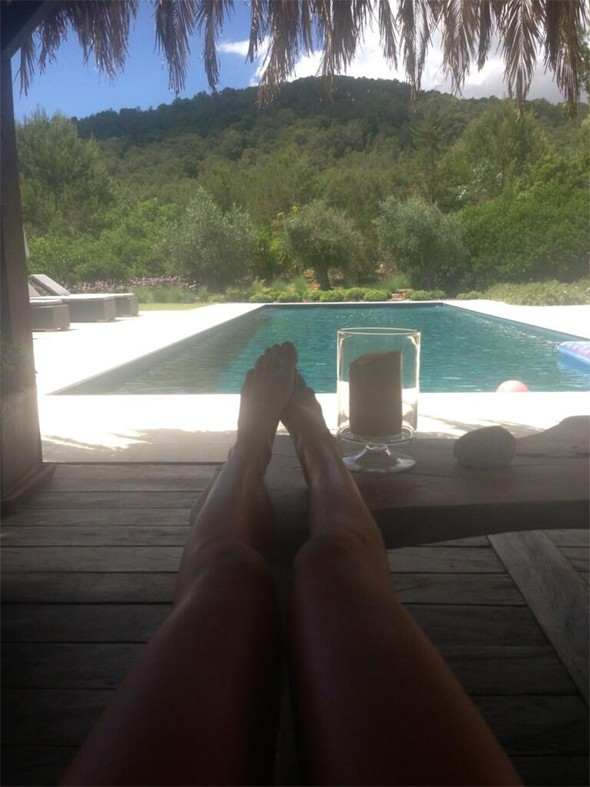 Abbey Crouch relaxes in Ibiza on girly holiday