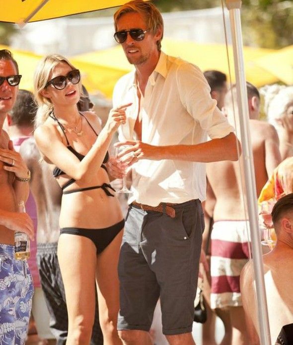 Abbey Clancey relaxes in Ibiza
