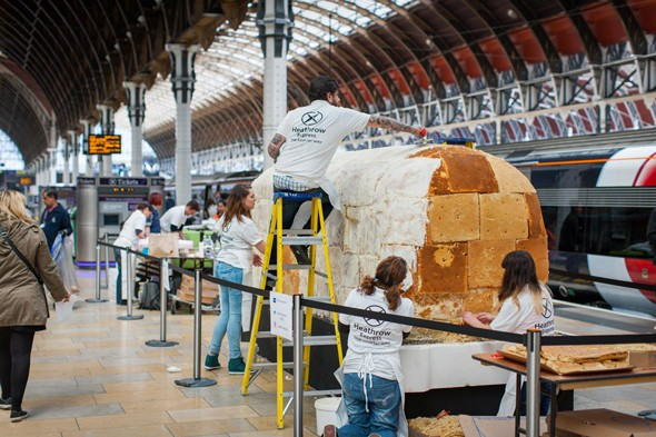 Chew Chew! The edible express train has arrived at Paddington