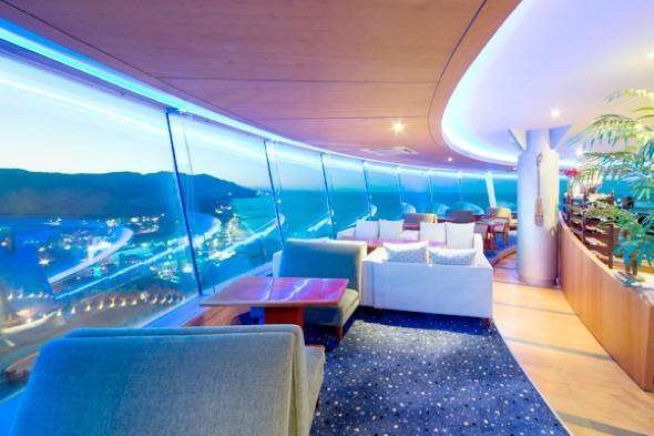 World's first cruise ship hotel opens - on top of a cliff in Korea
