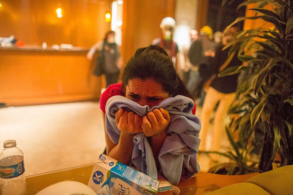 Tourists treated after riot police throw tear gas into hotel lobby in Turkey