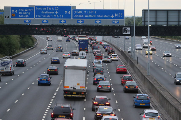 Female driver forced to stop in fast lane of M25 in road rage attack