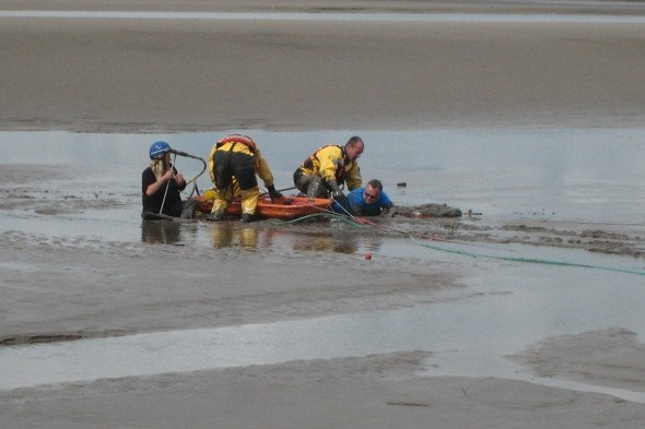 Couple spark full-scale rescue after getting stuck in 'lethal' quicksand in Cumbria