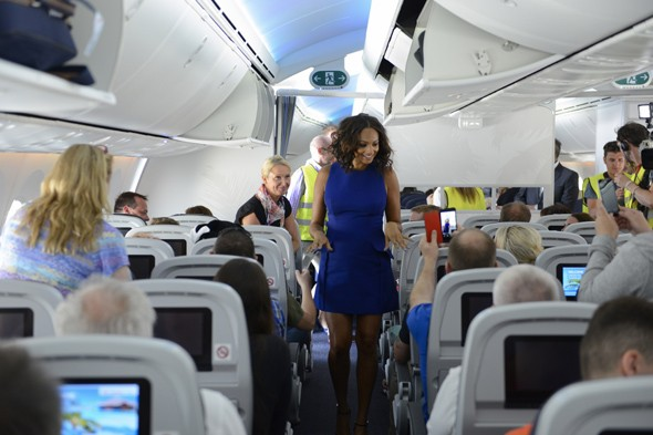 Alesha Dixon pilots first long-haul Boeing Dreamliner