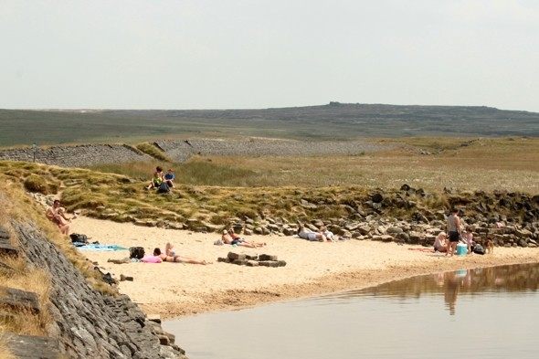 Sunseekers find Britain's highest beach - and it's 65 miles INLAND!