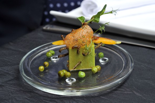 Pictures: Michelin-starred chef puts bugs on the menu at his restaurant