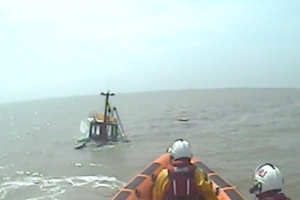 Three anglers rescued after boat sinks in Essex