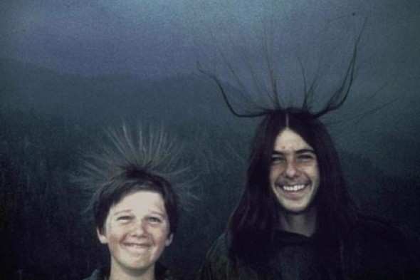 Hair-raising pic taken just moments before boy struck by lightning