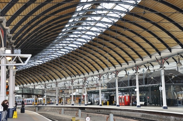 Woman dragged along platform by train in Newcastle