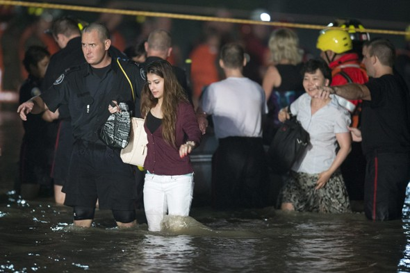 Dramatic pictures: Toronto hit by flash floods after heavy rain