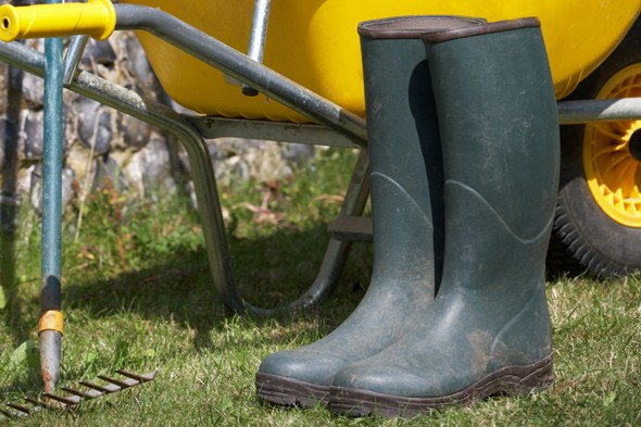 Woman saved from lightning strike by wellington boots