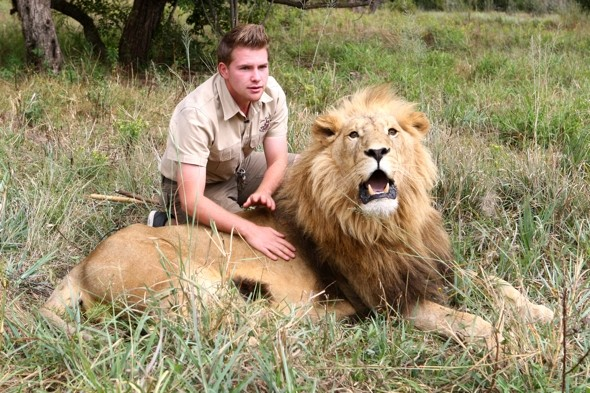 Meet the teen lion tamer who likes to tickle their feet