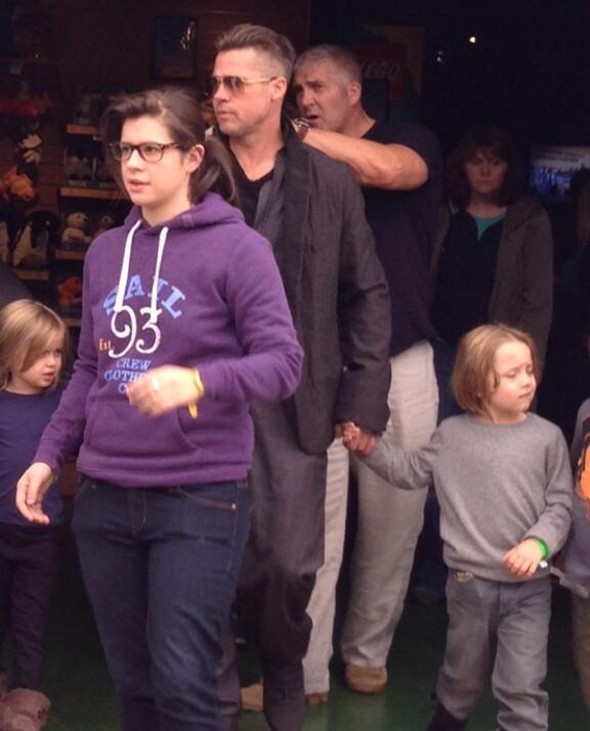 Brad Pitt treats his twins to day out at Legoland Windsor