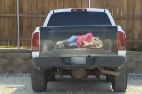Video: Sticker of 'kidnapped woman' on truck causing controversy in Texas