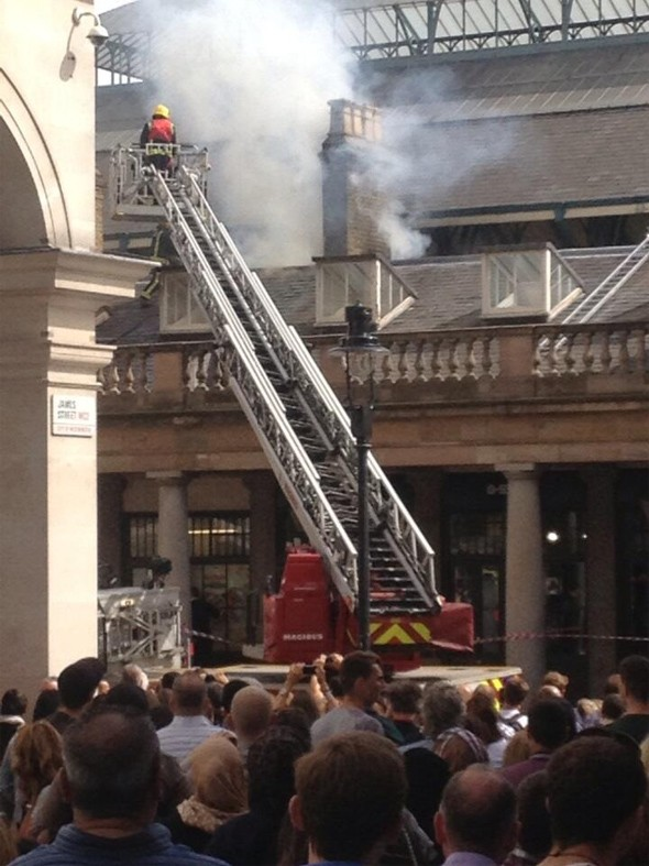 London's Covent Garden evacuated after fire in market area