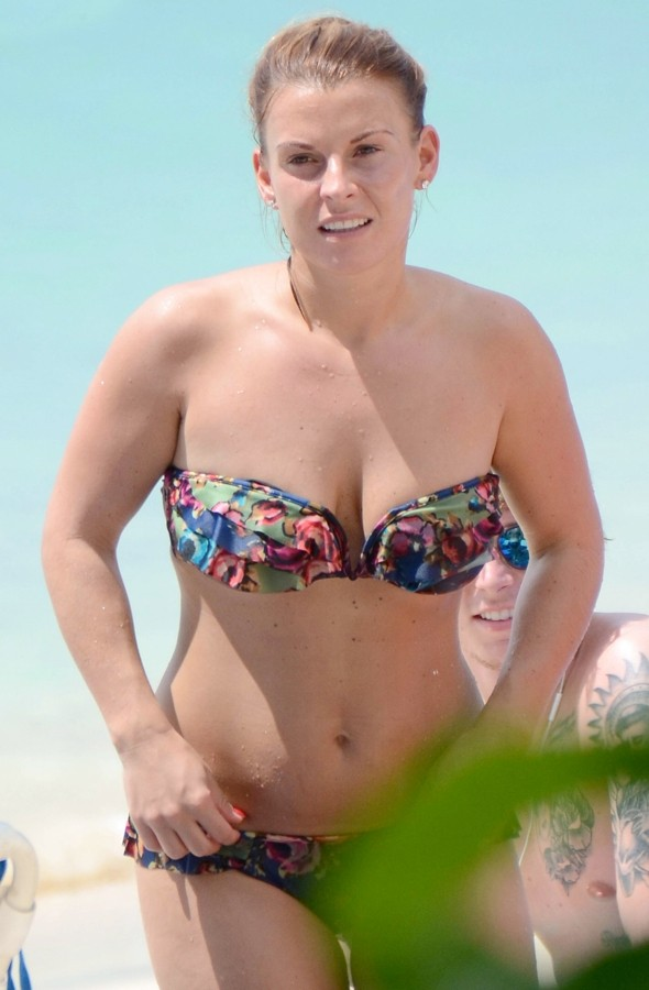 Coleen Rooney on holiday in a bikini in Barbados